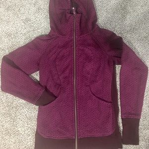 Lululemon Burgundy and Pink Scuba Hoodie
